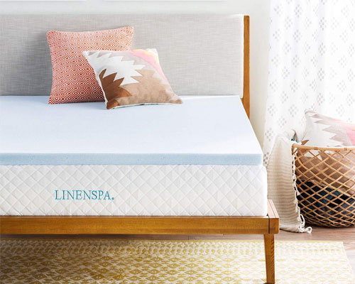Linenspa-2-Inch-Gel-Infused-Memory-Foam-Mattress-Topper