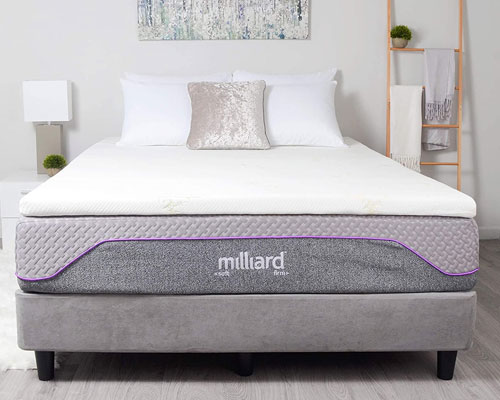 Milliard-2-inch-Gel-Infused-Memory-Foam-Mattress-Topper